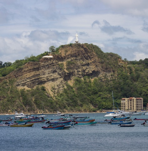 Jesus watching over San Juan del Sur...
