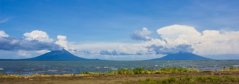 Volcanos on the island of Ometepe...
